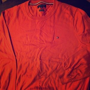 Orange Tommy Hilfiger crewneck